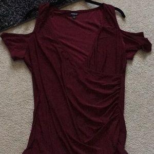 Torrid Cold shoulder blouse